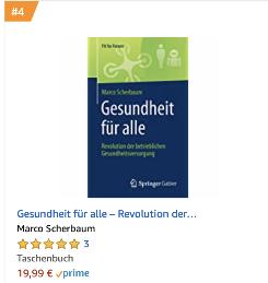 Amazon Bestseller Platz 4 Gesundheitspolitik